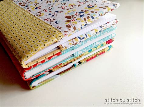 Fabric For Covers by Stitch By Stitch Fabric Book Cover Tutorial