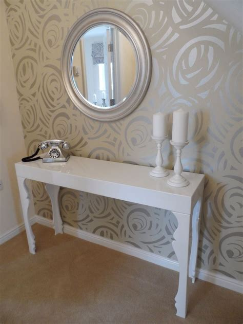 grey wallpaper hallway ideas our show home at cae nant elegant hallway featuring