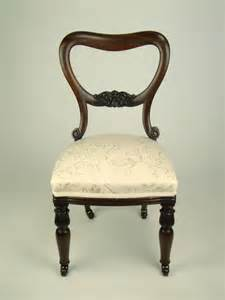 antique balloon back rosewood chair dressing