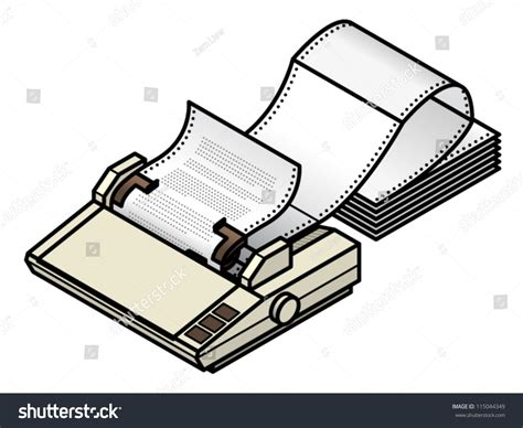 Fan Fold Paper - a dot matrix printer with tractor feed fan fold paper