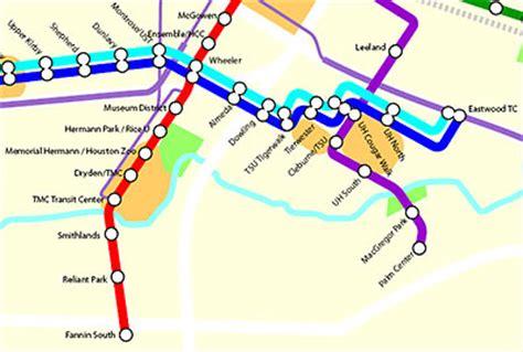 houston light rail map where will begin the houston texans ymca at palm