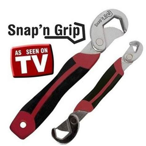 Snap N Grip Kunci Universal tools spanners snap n grip two universal wrenches that adapts to all kinds of bolts n