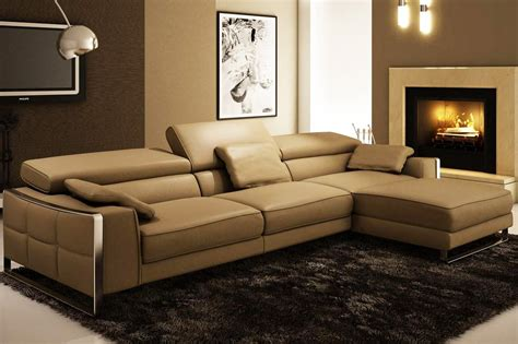 Modern Sofas Leather Modern Leather Sectional Sofa Flavio Leather Sectionals