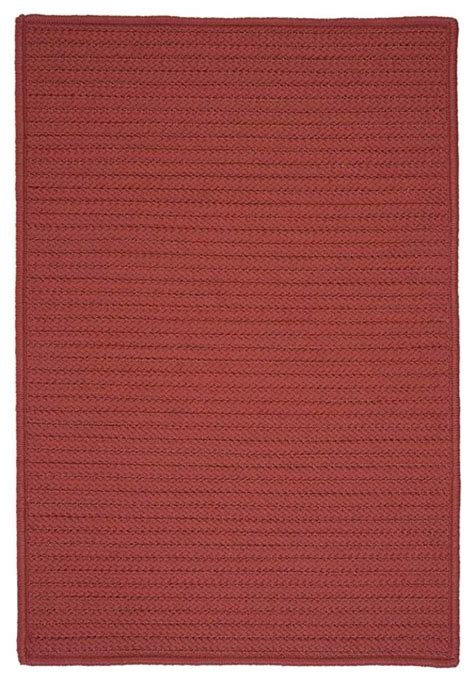 2 X3 Small 2x3 Rug Terracotta Red Braided Indoor Small Outdoor Rug