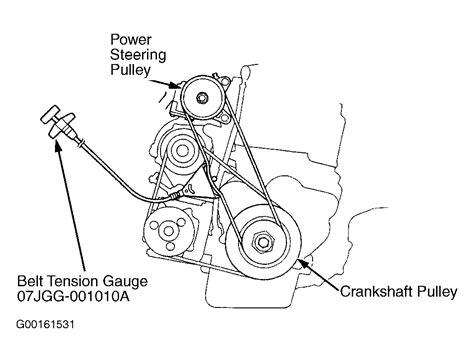 Honda Serpentine Belt Diagram