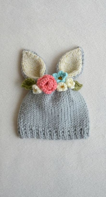 rabbit hat knitting pattern so easter bunny hat for babies crochet