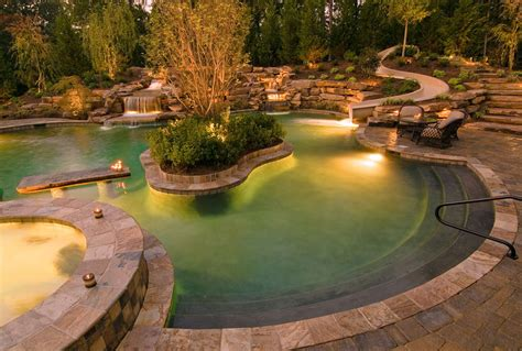 Backyard Pool Lighting Pool Landscape Lighting Cincinnati Oh