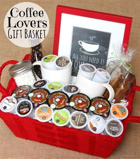 basket ideas for diy coffee theme gift basket ideas