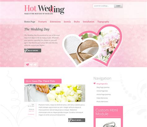 joomla wedding template joomla wedding template wedding hotthemes