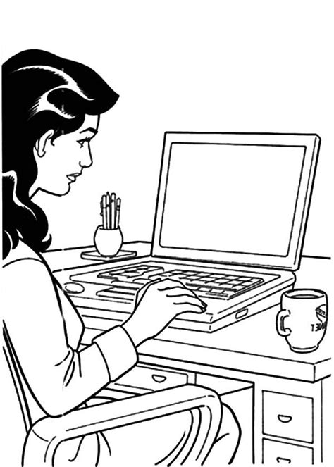 working business coloring pages place color