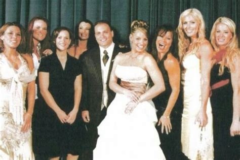 trish stratus wedding trish stratus wedding photo with mickie james lita molly