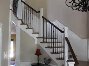innovative wrought iron balusters vogue portland traditional staircase decoration ideas with box