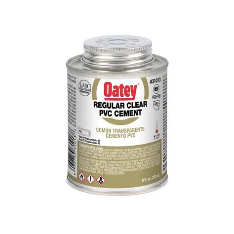oatey 8 oz pvc cement 310133 the home depot