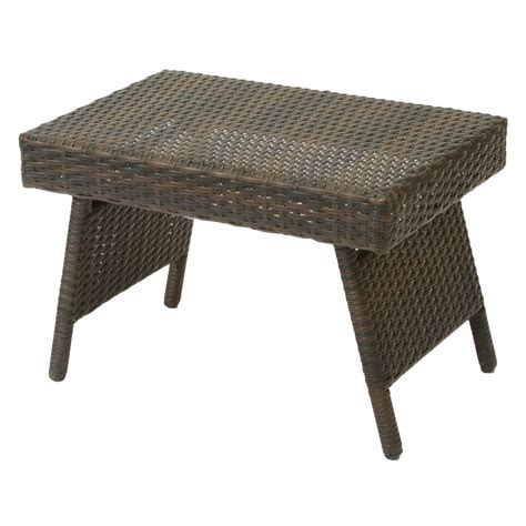 Wicker Patio Table Outdoor Wicker Folding Table Outdoor Living Patio Furniture Patio Tables Side Tables