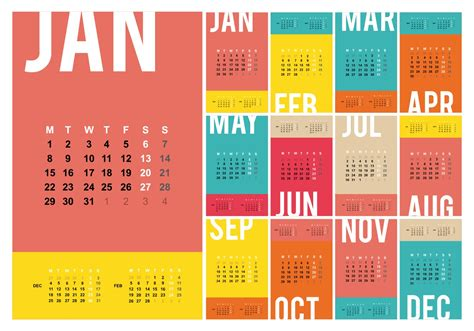 Calendar 2018 Template Vector Free Desktop Calendar 2018 Template Illustration