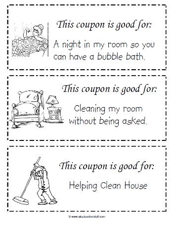 coupon template for pages this free printable coupon book for to give to on