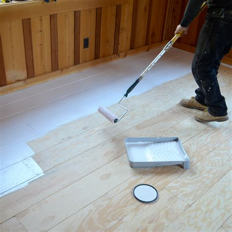 Getting Paint Wood Floor by How To Create Beautiful Plank Flooring Out Of Plywood