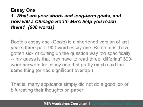 How Does An Mba Help by Breaking Chicago Booth S 2011 2012 Application Essays