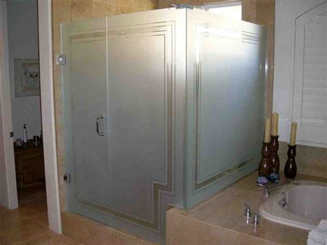 Frosted Shower Glass Doors Frosted Glass Shower Doors Decor Ideasdecor Ideas