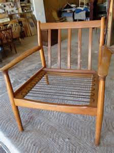 how to restring a chair seat how to refinish a vintage midcentury modern chair diy