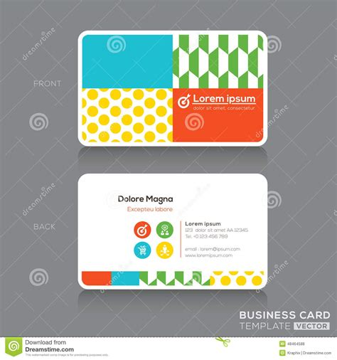 trendy business cards templates modern business card design template stock vector image