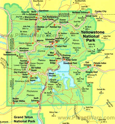 yellowstone national park map usa yellowstone national park a travel guide to america s