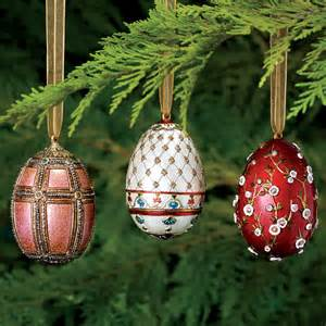 russian imperial large egg christmas ornament set home