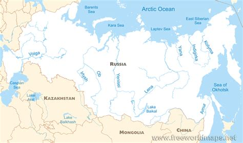 map of russia with cities rivers and mountains geography and climate water resources in russia