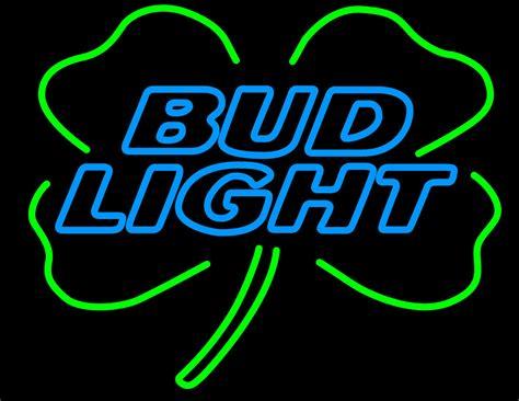 bud light shamrock neon sign bud light shamrock neon sign neon