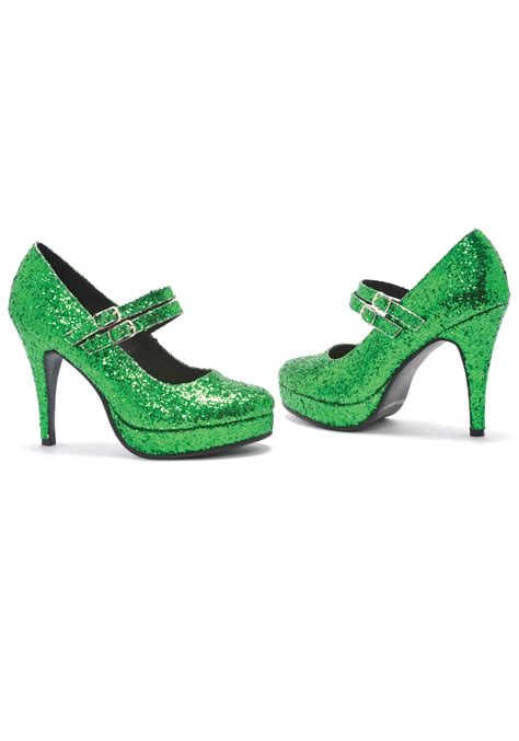 green glitter shoes ebay