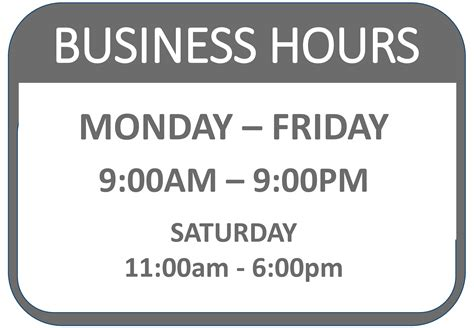 Free Business Hours Signage Templates At Allbusinesstemplates Com Hours Template