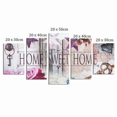 Home Sweet Home Decoration home sweet home 3d 3d diy diamond painting 5pcs