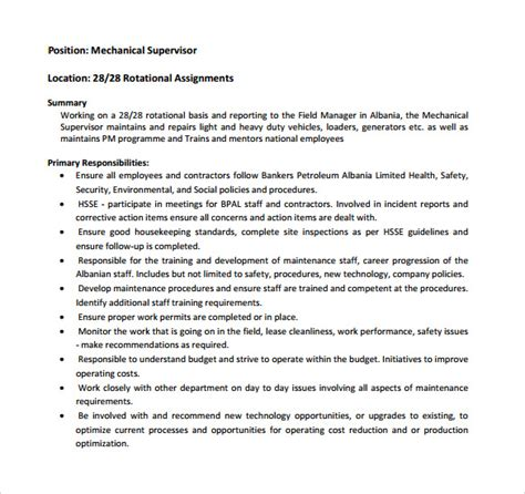 mechanical foreman resume sales mechanical site