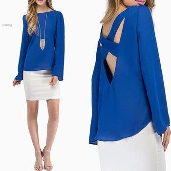 Velisa Cross Blouse Fn free shipping m fashion cross back t shirt summer 2015 sleeve casual