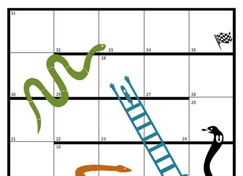 snakes and ladders blank template