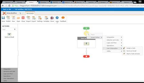 nintex workflow send notification nintex workflow send an email using sharepoint 2013 or