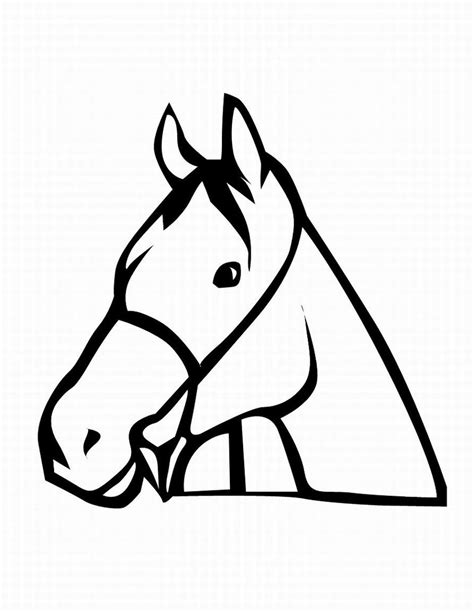 coloring pages horse head coloring pages of a horse head clipart best clipart best