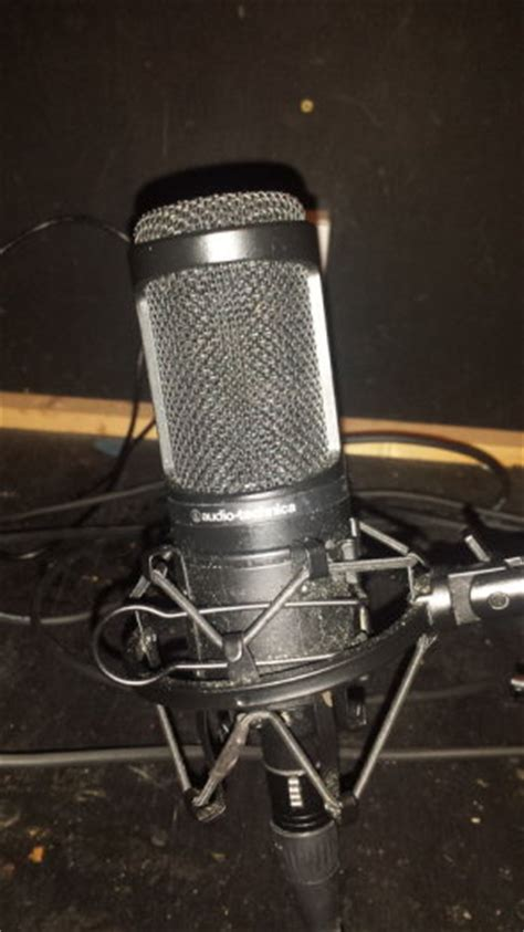 At2020 Desk Stand by Audio Technica At2020 Condensor Microphone W Rode Stand