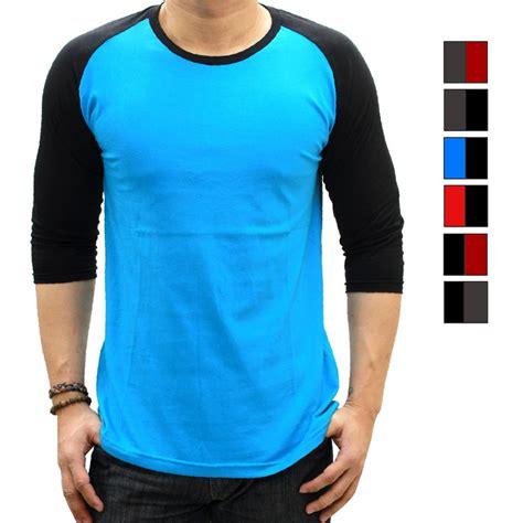 kaos baju 9 koleksi baju kaos raglan shirt lengan 3 4 tangan siku for