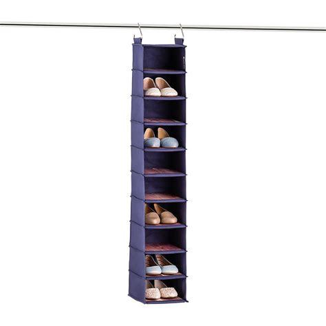 cedar shoe storage cedar stow hanging shoe bag the container store