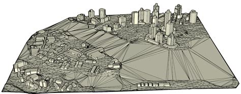 Drape Sketchup Point Cloud To 3d Terrain Model With Buildings Fme