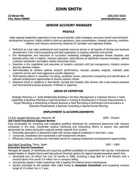 sles of resume templates accounts resume sles 28 images 59 best images about