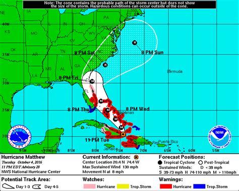 weather underground hurricane tracking hurricane matthew s latest forecast track brings it closer