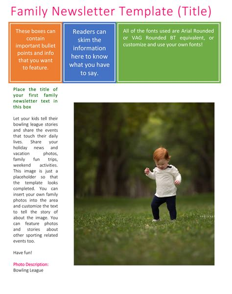 family newsletter template family newsletter template 3 printable layouts