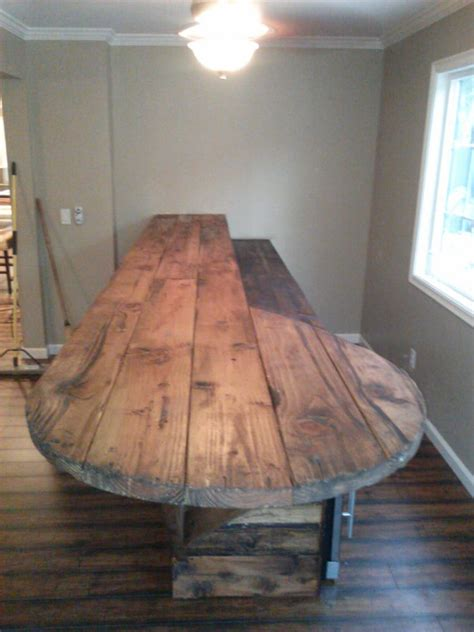 Rustic Wood Bar Tops by Custom Built Bar Top Rustic Distressed Style Wood