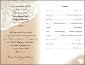 Memorial Service Template by Funeral Program Template Masir