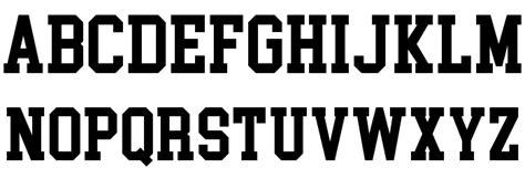 College Block Letter Font college block font