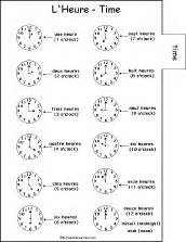 telling time in french worksheets davezan