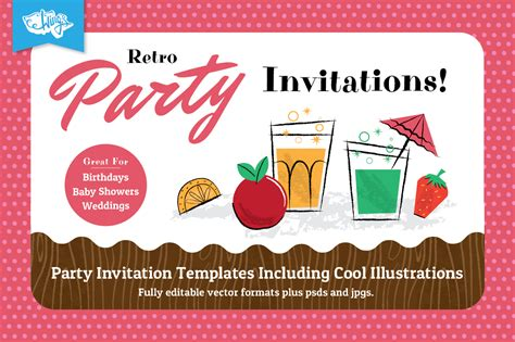 Design Your Own Home Download by Retro Party Invitation Design Templates For Members