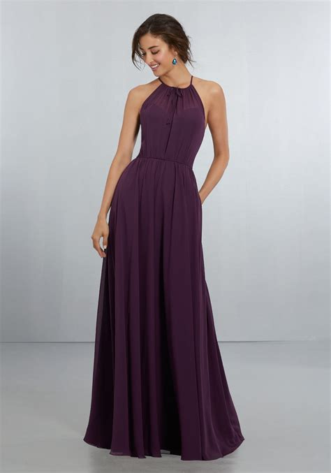 Bridesmaid Dresses - chiffon bridesmaids dress with softly draped